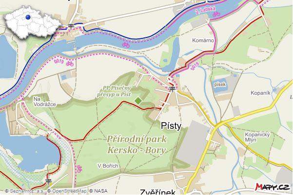 Mapa Písty